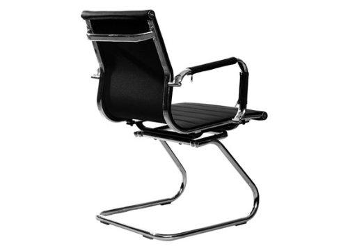 best deal depot black leather low back office desk computer guest ch
