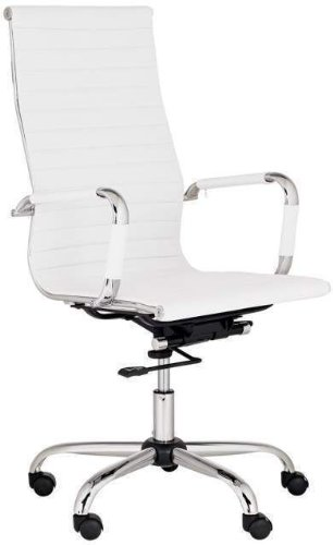 best deal depot modern high back ribbed upholstered leather executive