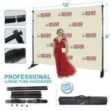 Best Deal Depot 8' x 8' Backdrop Telescopic Step and Repeat Banner Stand Show 1PCS