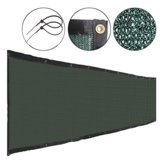 Fabric Mesh Fence Windscreen Privacy Screen W/ Brass Grommets 6'x50' Green