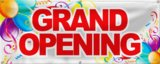 Best Deal Depot Grand Opening Banner Sign Store Signs Flag 2'x5' Color Bar And Balloon