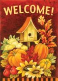 Toland Home Garden Fall Birdhouse Garden Flag 118272