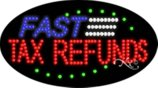 BestDealDepot LED Flasher Signs FAST TAX REFUNDS Business Sign 15