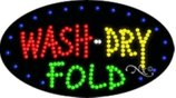 BestDealDepot LED Flasher Signs WASH DRY FOLD Business Sign 15