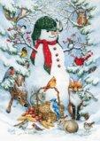 Toland Home Garden Woodland Snowman Garden Flag 119377
