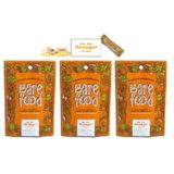 Barefood 100% Natural Chewy Ginger Candy Orange Ginger 3 Packs of 1.25oz