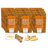 Barefood 100% Natural Chewy Ginger Candy Orange Ginger 12 Packs of 1.25oz