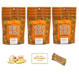 Barefood 100% Natural Chewy Ginger Candy Orange Ginger 12 Packs of 5oz