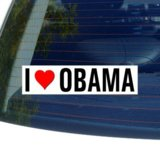 I Love Heart OBAMA Window Bumper Sticker