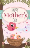 Happy Mother's Day With 3 Singing Birds Garden Flag Decorative Flag - 12.5