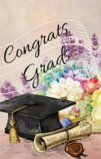 Congrats Grads! Graduation Theme Garden Flag Decorative Flag - 12.5