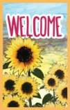 Welcome Flag With Sunflowers Garden Flag Decorative Flag - 12.5