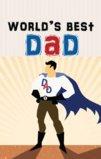 World's Best Dad Happy Father's Day Garden Flag Decorative Flag - 12.5