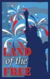 Land Of The Free With The Statue Of Liberty Garden Flag Decorative Flag - 12.5