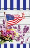 Patriotic American Flag Against Wooden Background Garden Flag Decorative Flag - 12.5
