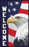 Patriotic Bald Eagle And American Flag Garden Flag Decorative Flag - 12.5