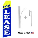 For Lease Econo Flag | 16ft Aluminum Advertising Swooper Flag Kit with Hardware