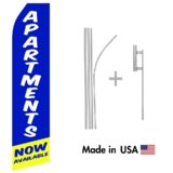 Apartments Now Available Econo Flag | 16ft Aluminum Advertising Swooper Flag Kit with Hardware