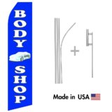 Body Shop Econo Flag | 16ft Aluminum Advertising Swooper Flag Kit with Hardware