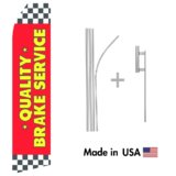 Quality Brake Service Econo Flag | 16ft Aluminum Advertising Swooper Flag Kit with Hardware
