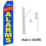 Auto Alarms Econo Flag | 16ft Aluminum Advertising Swooper Flag Kit with Hardware