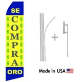 Se Compra Oro Econo Flag | 16ft Aluminum Advertising Swooper Flag Kit with Hardware