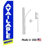 Available Now Econo Flag | 16ft Aluminum Advertising Swooper Flag Kit with Hardware