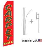 Carpet Sale Econo Flag | 16ft Aluminum Advertising Swooper Flag Kit with Hardware
