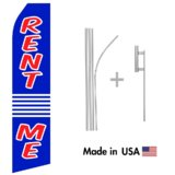 Rent Me Econo Flag | 16ft Aluminum Advertising Swooper Flag Kit with Hardware