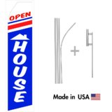Open House Econo Flag | 16ft Aluminum Advertising Swooper Flag Kit with Hardware
