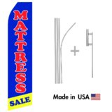 Mattress Sale Econo Flag | 16ft Aluminum Advertising Swooper Flag Kit with Hardware