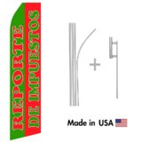 Reporte De Impuestos Econo Flag | 16ft Aluminum Advertising Swooper Flag Kit with Hardware