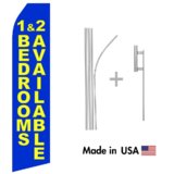Blue 1 & 2 Bedrooms Available Econo Flag   16ft Aluminum Advertising Swooper Flag Kit with Hardware