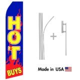 Hot Buys Econo Flag | 16ft Aluminum Advertising Swooper Flag Kit with Hardware