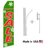 Holiday Sale Econo Flag | 16ft Aluminum Advertising Swooper Flag Kit with Hardware