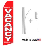 Vacancy Econo Flag | 16ft Aluminum Advertising Swooper Flag Kit with Hardware