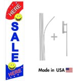 Sale Here Econo Flag | 16ft Aluminum Advertising Swooper Flag Kit with Hardware