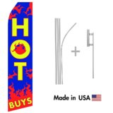 Hot Buy Econo Flag | 16ft Aluminum Advertising Swooper Flag Kit with Hardware