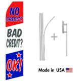 No Credit OK Econo Stock Flag