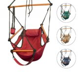 New Deluxe Air Chair Swing Hanging Hammock Chair W/ Pillow & Drink Holder